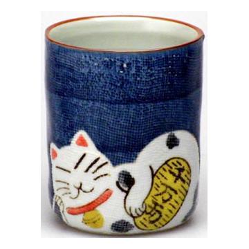 マグカップ 縁起猫(青)