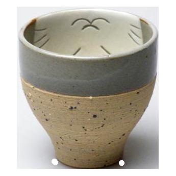 湯のみ 南蛮猫(白)