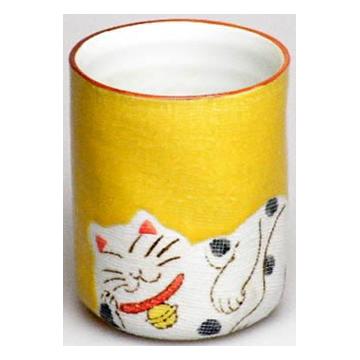 マグカップ 縁起猫(黄)