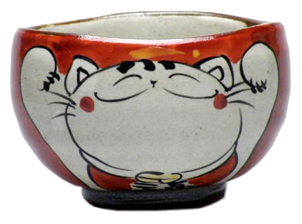 湯のみ 笑い猫