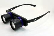 拡大率3倍 スマートアイメガネタイプ ハネアゲ双眼鏡HZG-10-3(ネイビー×ブラック)