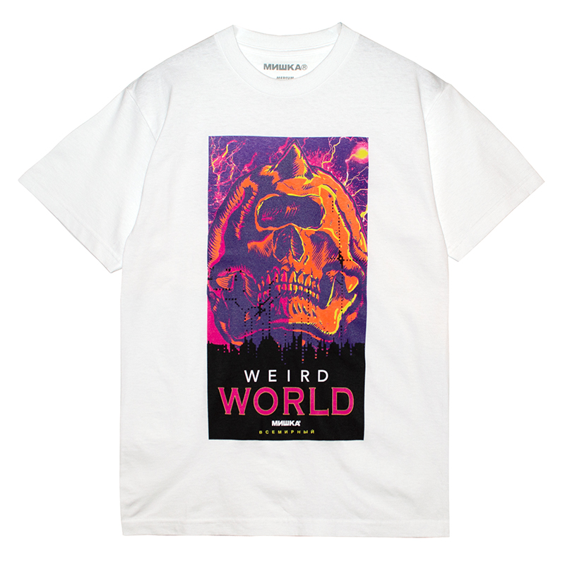 WEIRD WORLD TEE (WHITE/76914WHT)