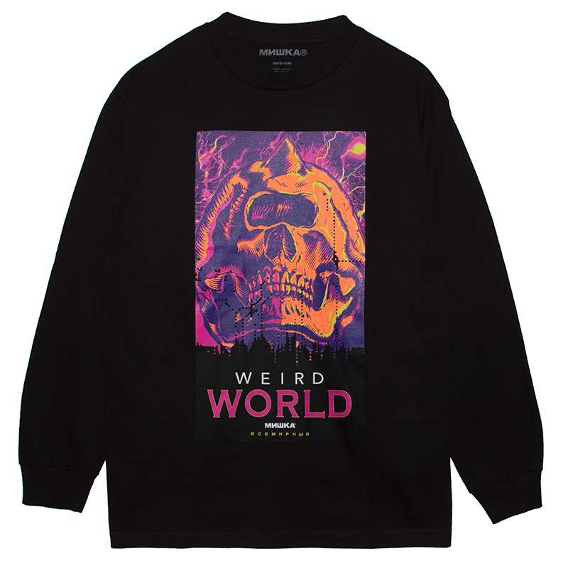 WEIRD WORLD L/S TEE (BLACK/76915BLK)