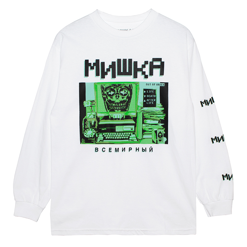 INCOMING TRANSMISSION L/S TEE (WHITE/76938WHT)