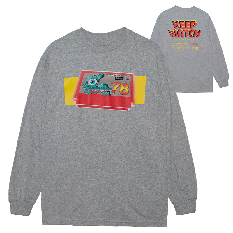 MEGA BUSTER L/S TEE (H.GREY/76953GRY)