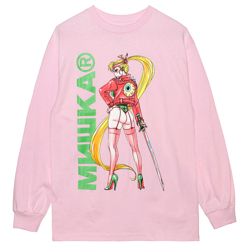 SAMURAI KEEP WATCH L/S TEE (PINK/76966PNK)
