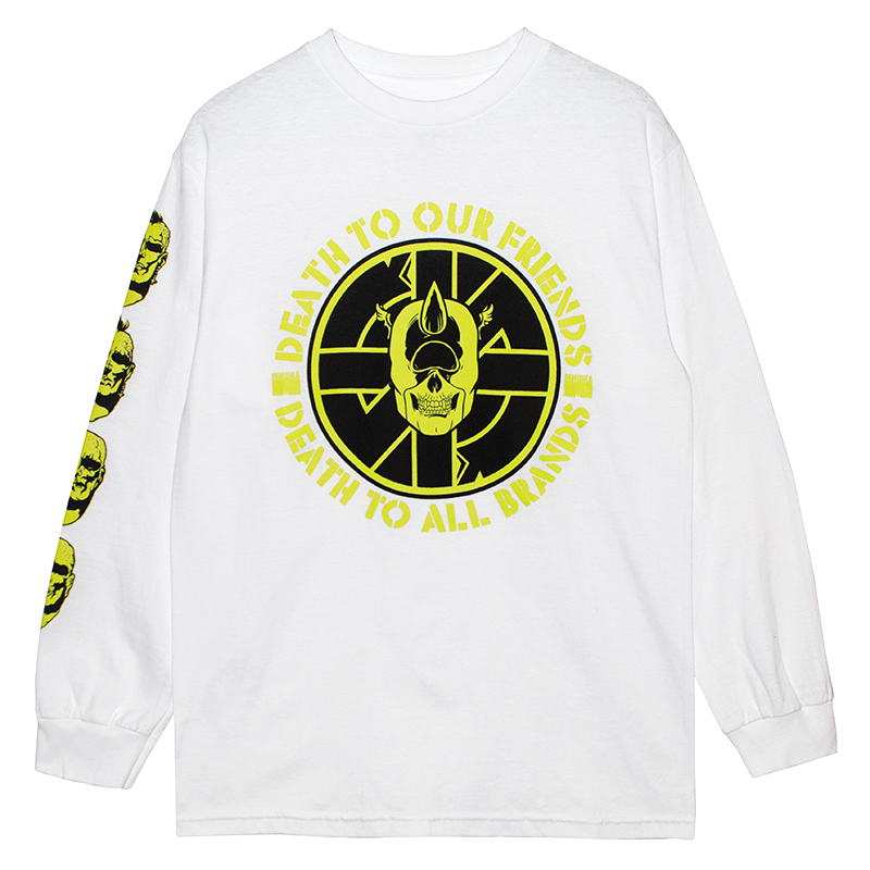 DEATH TO ALL L/S TEE (WHITE/76974WHT)