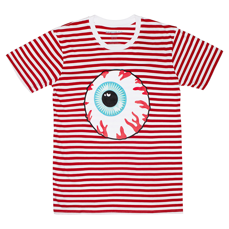 KEEP WATCH STRIPE TEE (RED/90870RED)