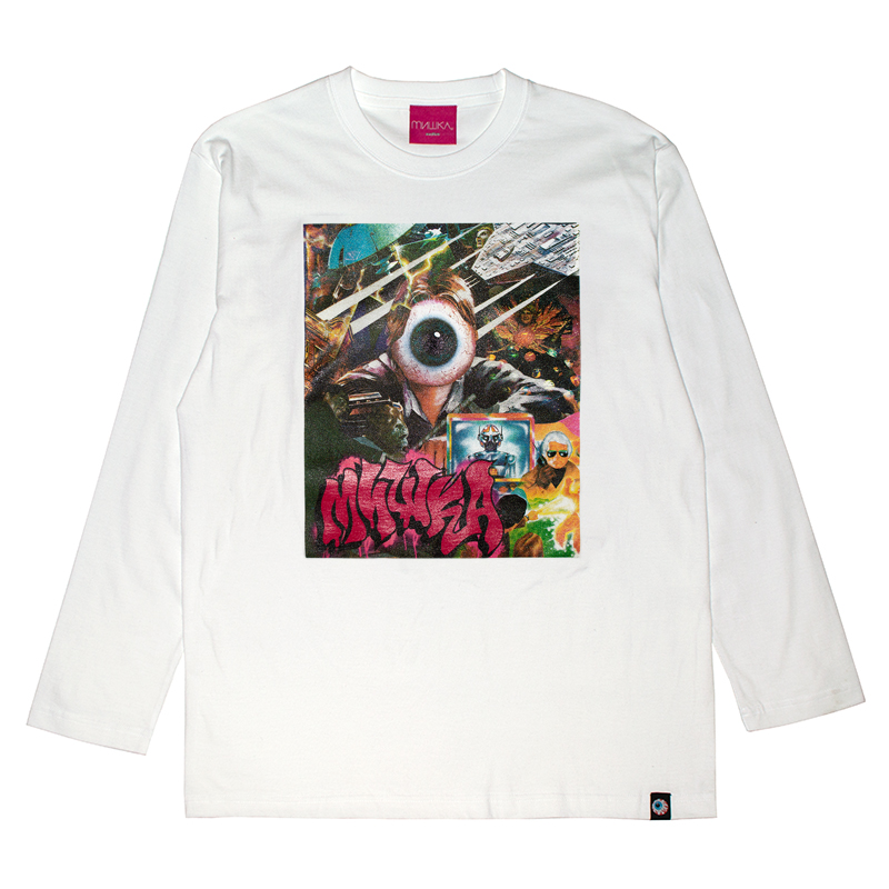 GALACTIC GHOULS L/S TEE (WHITE/91514WHT)