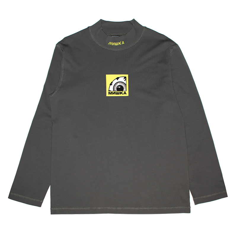 MOCK-NECK BOX K.W L/S TEE (GREY/M21000056GRY)