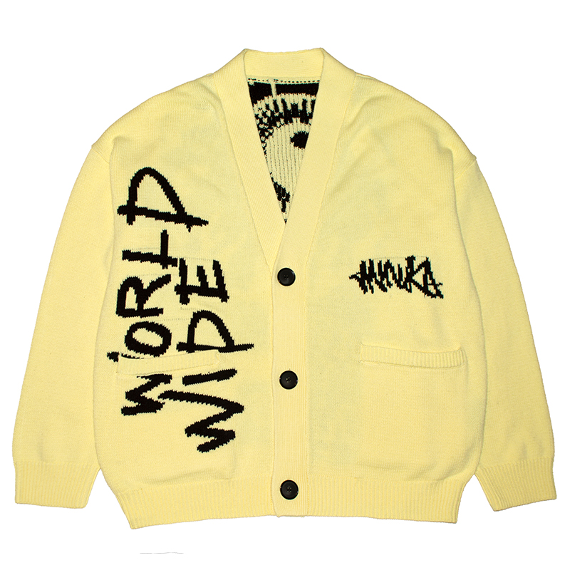 SPRAY ART K.W KNIT CARDIGAN (LEMON/M21000351LMN)