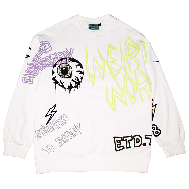 GRAFF OVERSIZED CREWNECK (WHITE/M21000414WHT)