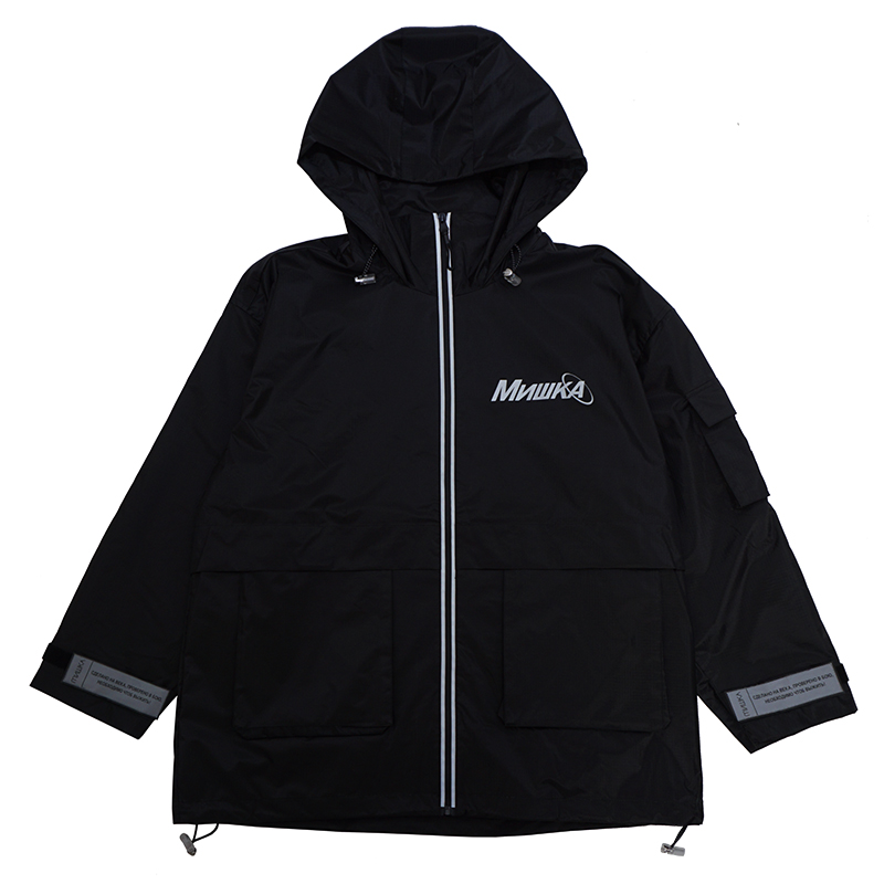 REFLECTOR HOODED MOUNTAIN PARKA (BLACK/M21000559BLK)