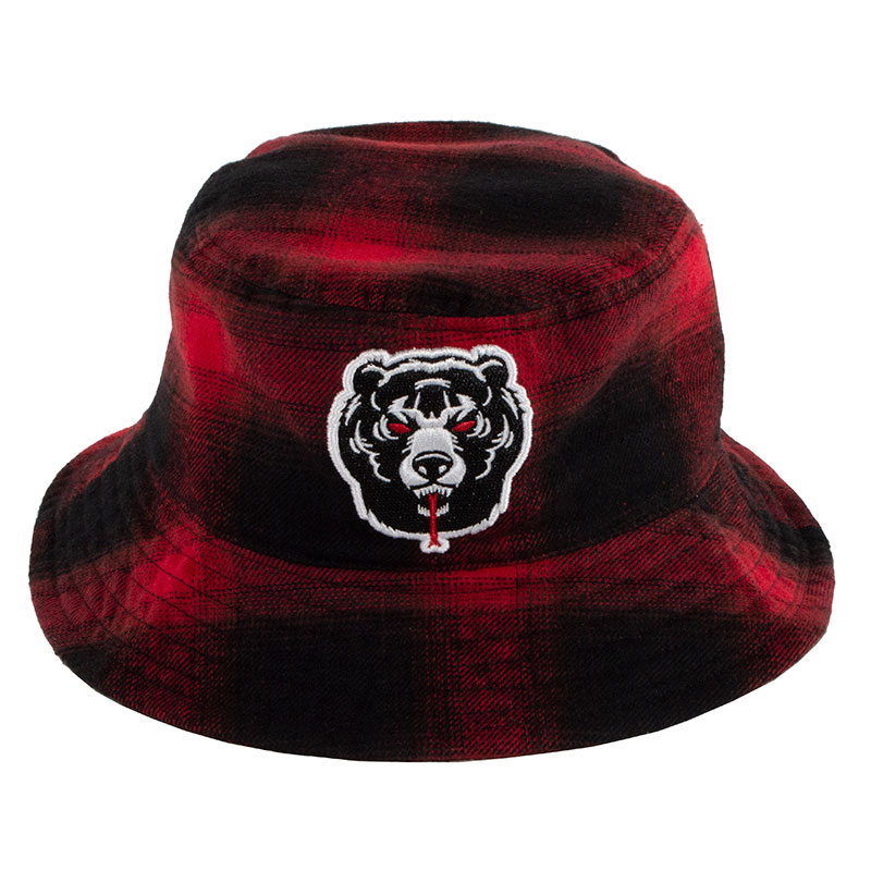 PLAID DEATH ADDERS BUCKET HAT (RED/MAW183224)