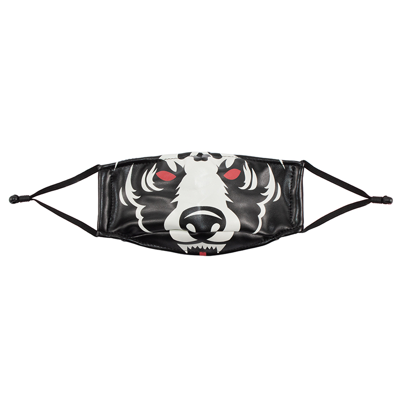 LEATHER D.A MASK (BLACK/MAW183405)