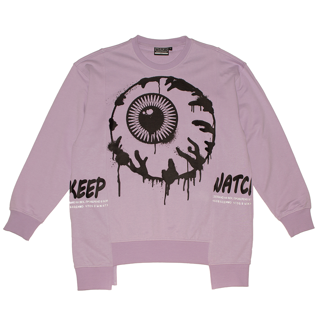 PAINT KEEP WATCH CREW NECK (LAVENDER/MAW190445LVD)