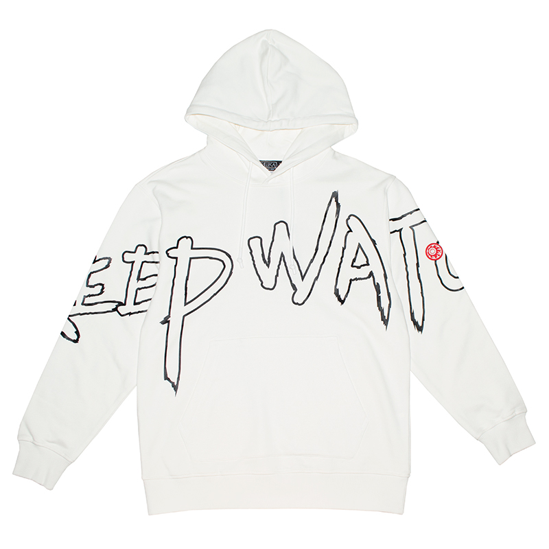 DYED IN ANY COLOR PULLOVER HOODIE (WHITE/MAW190473WHT)