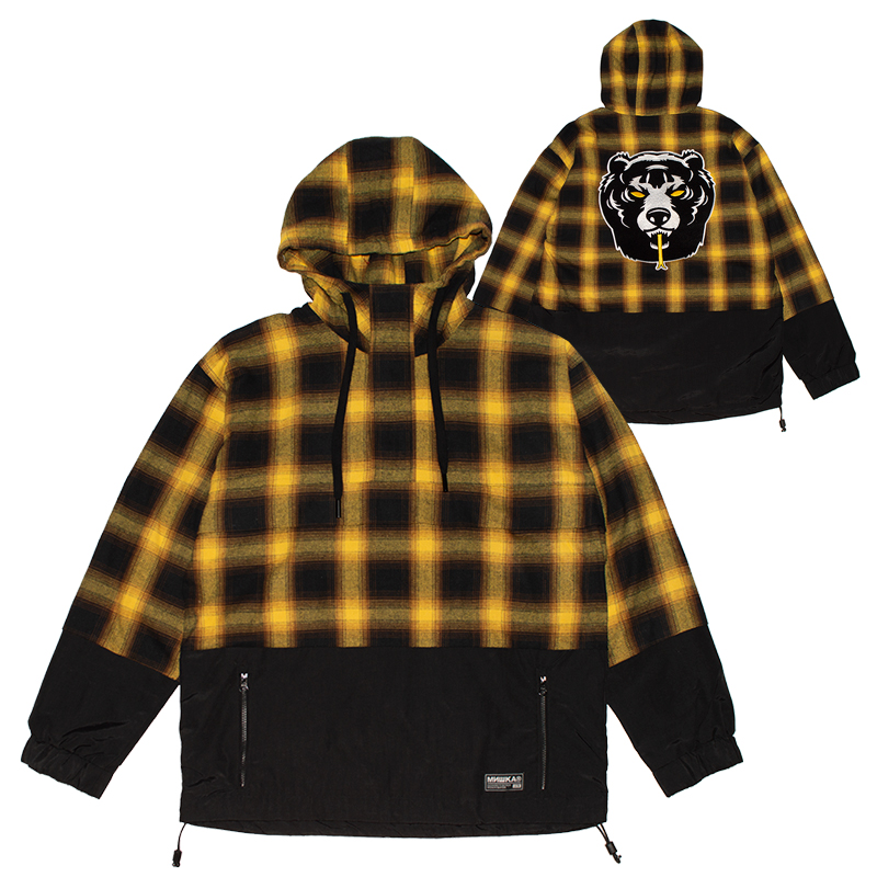 DEATH ADDERS PLAID HALF ZIP JACKET (YELLOW/MAW190506)