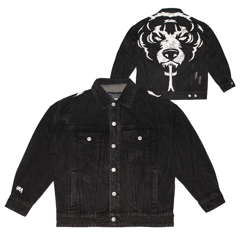 DEATH ADDERS DAMAGE DENIM JACKET (BLACK/MAW190508)
