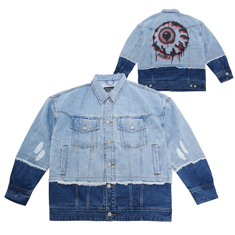 KEEP WATCH TWO-TONE DENIM JACKET (MAW190540)