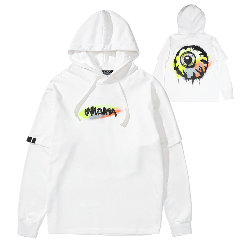 GRAFF K.W LAYERED PULLOVER HOODIE (WHITE/MAW200401WHT)