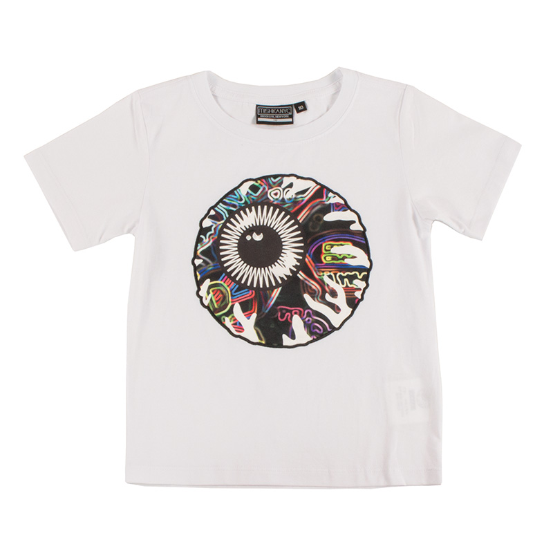 NEON KEEP WATCH  T-SHIRT [KIDS] (WHITE/MSS170004BWHT)