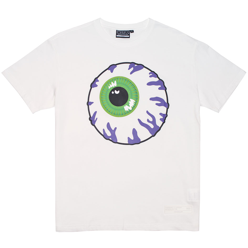 PURPLE CONGESTION TEE (WHITE/MSS190032WHT)