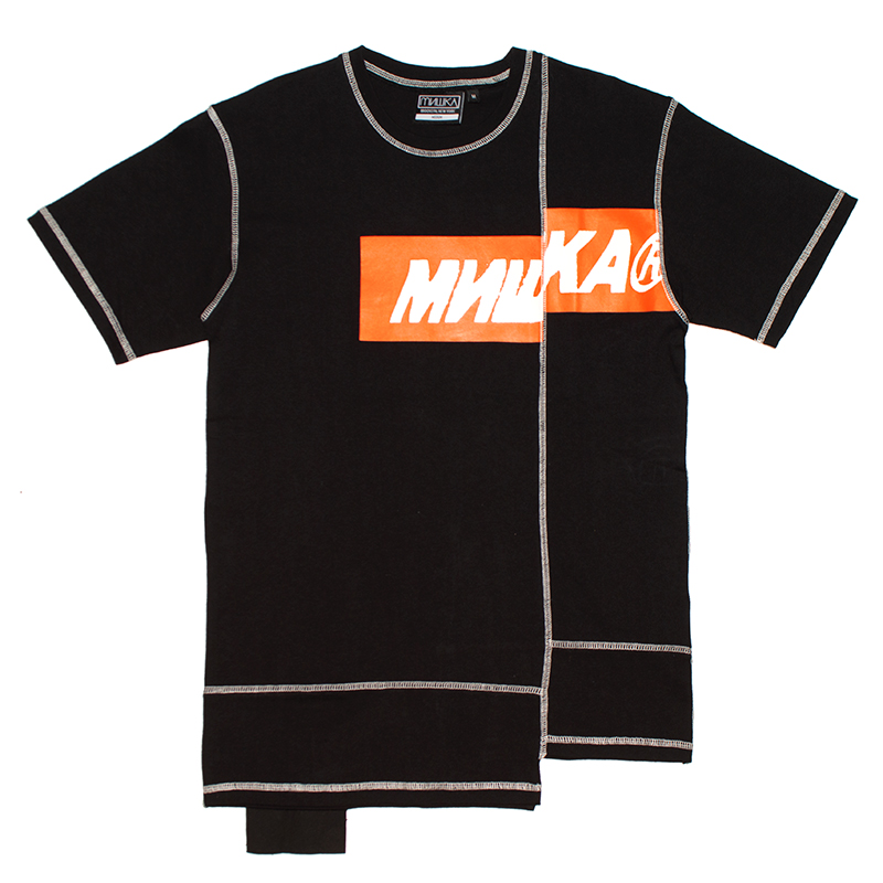 MISHKA ASYMMETRY TEE (BLACK/MSS190056)