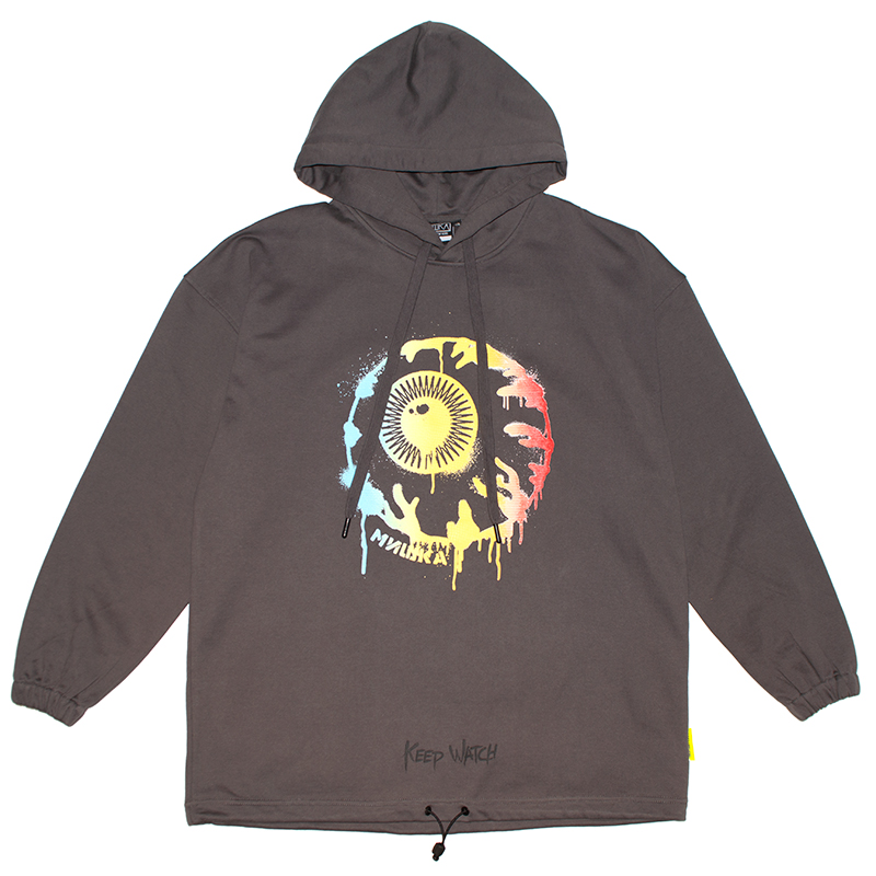 WET PAINT KEEP WATCH HOODIE (CHARCOAL/MSS190408CHL)