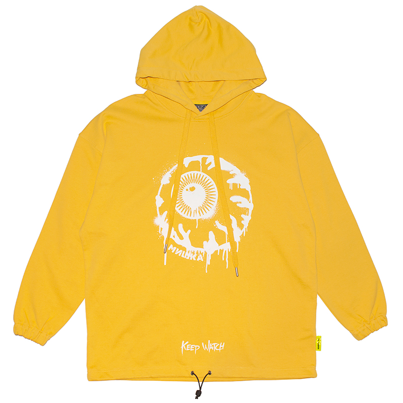 WET PAINT KEEP WATCH HOODIE (YELLOW/MSS190408YLW)
