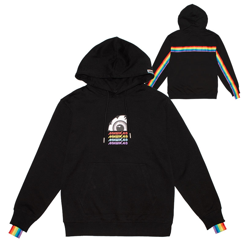 OVER THE RAINBOW HOODIE (BLACK/MSS190446BLK)