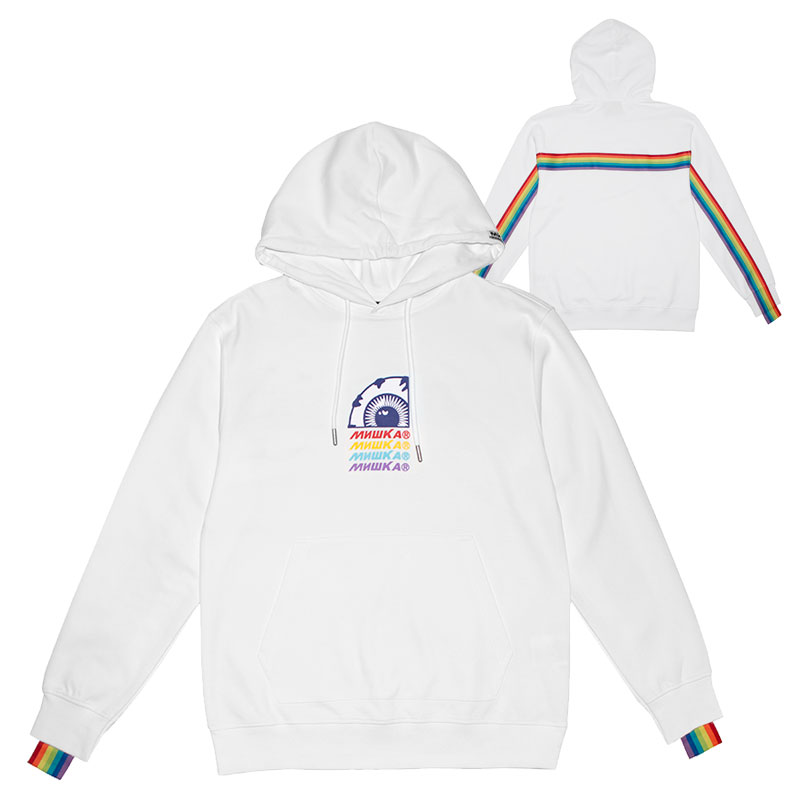 OVER THE RAINBOW HOODIE (WHITE/MSS190446WHT)