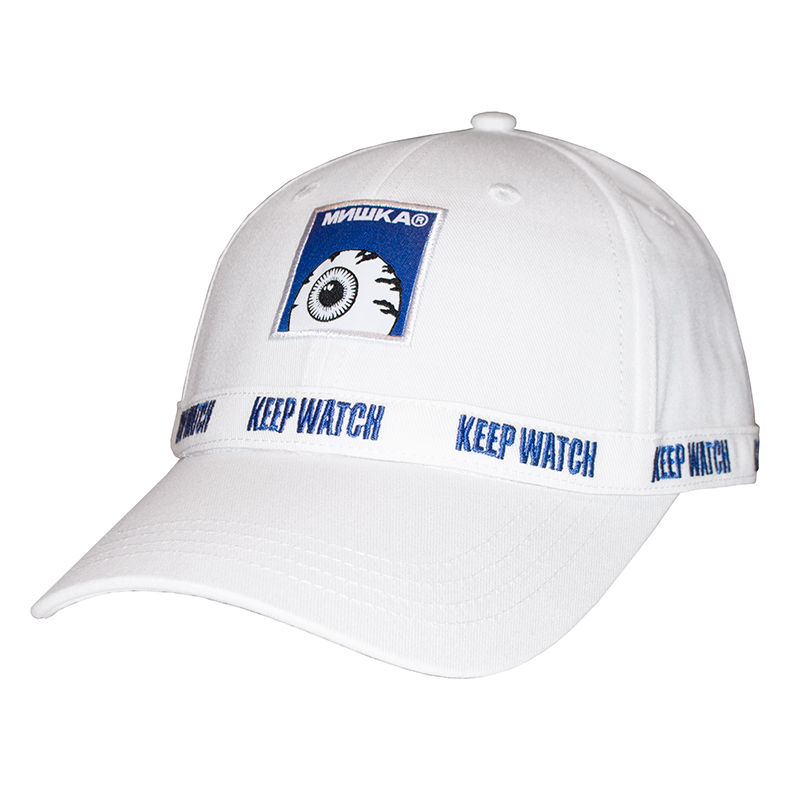 KEEP WATCH RACING STRAPBACK CAP (WHITE/MSS193201WHT)