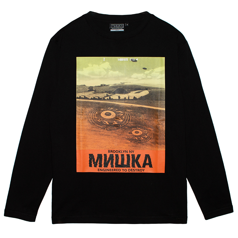 CROP CIRCLE L/S TEE (BLACK/MSS200007BLK)