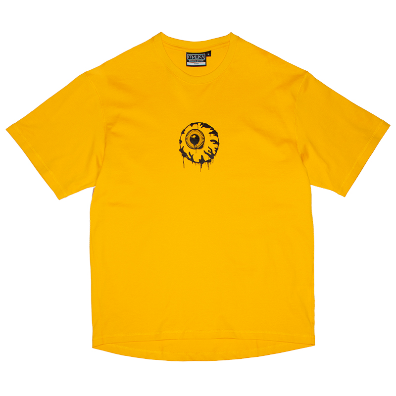 BACK POCKET OVERSIZED K.W TEE (YELLOW/MSS200009YLW)