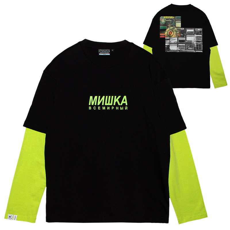 K.W MONITORS L/S TEE (BLACK/MSS200057BLK)