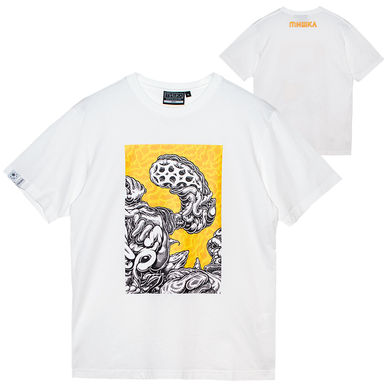 MARK DEAN VECA MONSTER GRAPHIC TEE (WHITE/MSS200087WHT)
