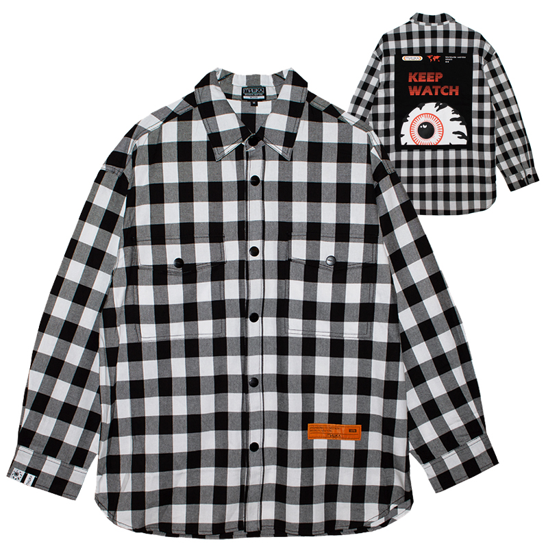 K.W BLOCK CHECK OVERSIZED SHIRT (MSS200251)