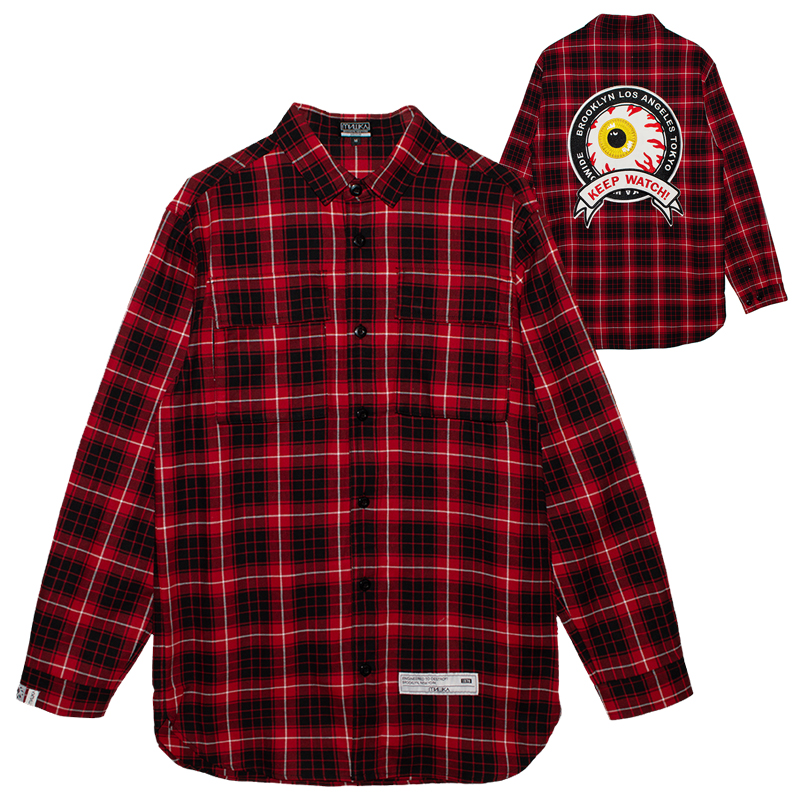 K.W PLAID OVERSIZED SHIRT (MSS200252)