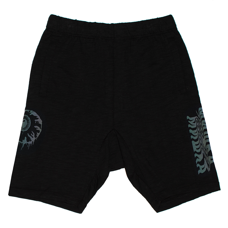 SEERSUCKER REFLECTIVE PRINT SHORTS (BLACK/MSS200840)