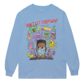 MISHKA x JOHNNY RYAN: DON'T LET THEM WIN L/S TEE (BLUE/89775)