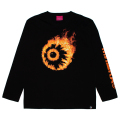 FLAMING KEEP WATCH L/S TEE (BLACK/91523BLK)