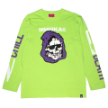 2 CHILL 4 DEATH L/S TEE (LIME/91552LME)