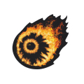 FLAMING KEEP WATCH STICKER (94599)