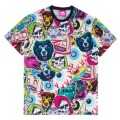 STICKER COLLAGE ALL OVER PRINT TEE (99887)