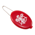 BEAR MOP RUBBER COIN CASE (RED/EX17002DRED)