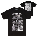 MISHKA x MIKE DIANA: NEWSPAPER TEE (BLACK/EX1902MD)