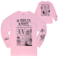 MISHKA x MIKE DIANA: NEWSPAPER L/S TEE (PINK/EX1903MD)
