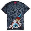 TIE DYE SOFT CREAM KEEP WATCH TEE (BLACK/EXWD1002ABLK)