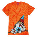 TIE DYE SOFT CREAM KEEP WATCH TEE (ORANGE/EXWD1002AORG)